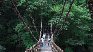 「死ぬまでに渡りたい世界の徒歩吊り橋10」にランクインした、四国の吊り橋
