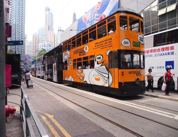 カラフルで見飽きない!おもちゃみたいな香港の路面電車