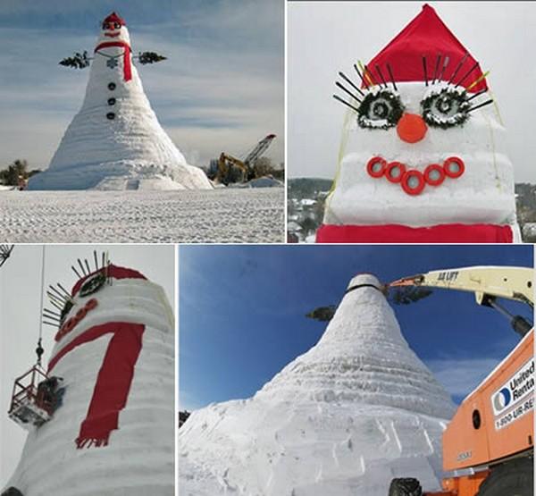 【ギネス登録】世界一「身長の高い雪だるま」とは?