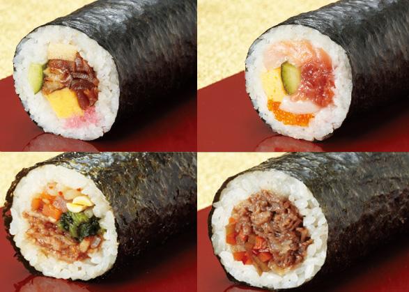 コンビニ、ホテル、高級寿司店が集結!絶対食べたい、最強恵方巻き2014