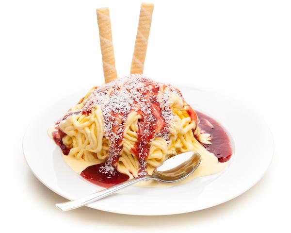 ドイツにはスパゲティーの形をしたアイスがあるらしい!?