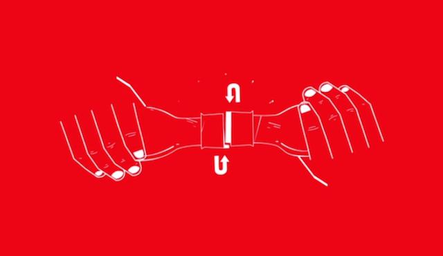 コカ・コーラの斬新なアイディア「2人でキャップをあける」ボトル