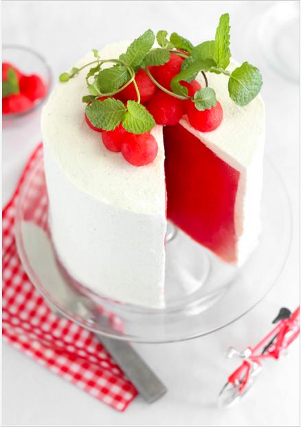 暑い日に!海外ブロガーの間で人気急上昇中、涼しげなスイカのケーキ