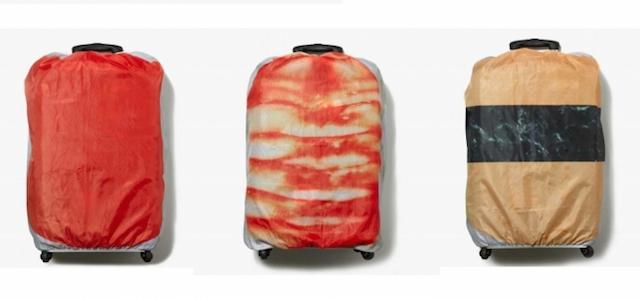 日本発のクールなスーツケースカバー、「回転寿司」でゴロゴロと旅をしよう