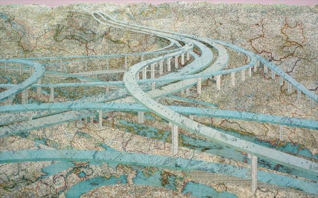 地図でアートの世界を表現するデザイナー