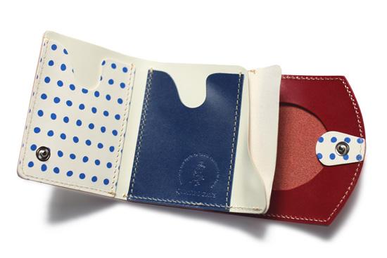 温泉巡りのお伴にも!キュートな豆絞り×革の小さい財布「小さいふ」4月16日発売