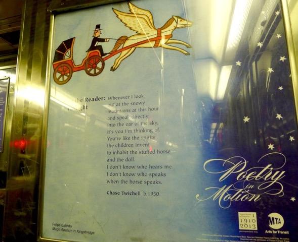 NY地下鉄車内の広告が面白すぎる