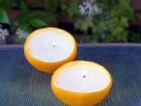 【アウトドアの蚊除けに】爽やかオレンジ・キャンドル