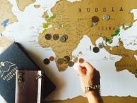 コインで削って楽しい!世界地図「Scratch Map」
