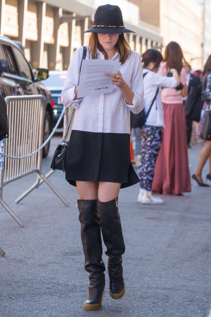 ニューヨーカーに学ぶ!秋に着たい白シャツスタイル