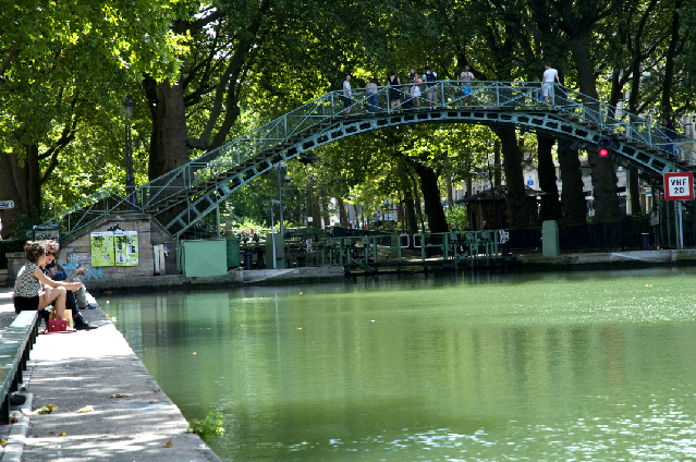 映画のロケ地にもなったサンマルタン運河