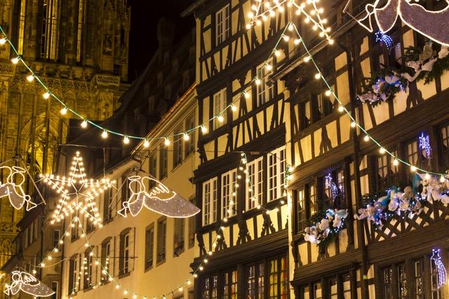 クリスマスの街 フランスのストラスブール