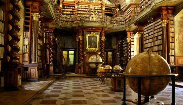 チェコ・プラハにある世界で最も美しい図書館