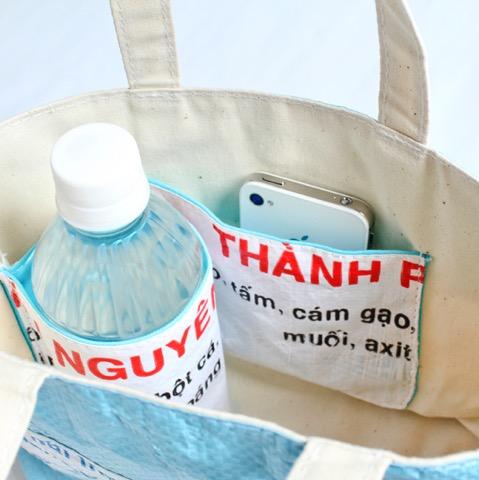 原料はなんとベトナムの「飼料袋」! キュートな究極エコ雑貨