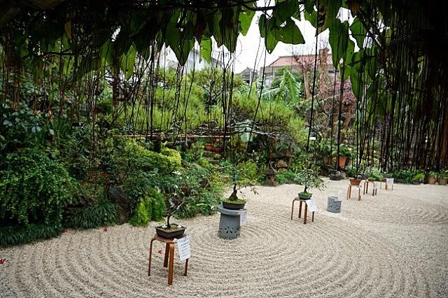 古民家の中庭を眺めながら。沖縄に来たら一番に行きたいお気に入りのお店
