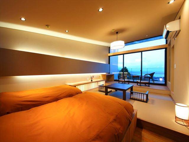 すべてのお部屋に絶景テラスと半露天風呂付き!別府の新・絶景ホテル!