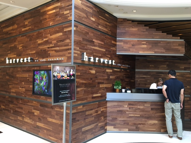 ラスベガスディナー。ベラッジオホテル内のアメリカ料理「ハーベスト」