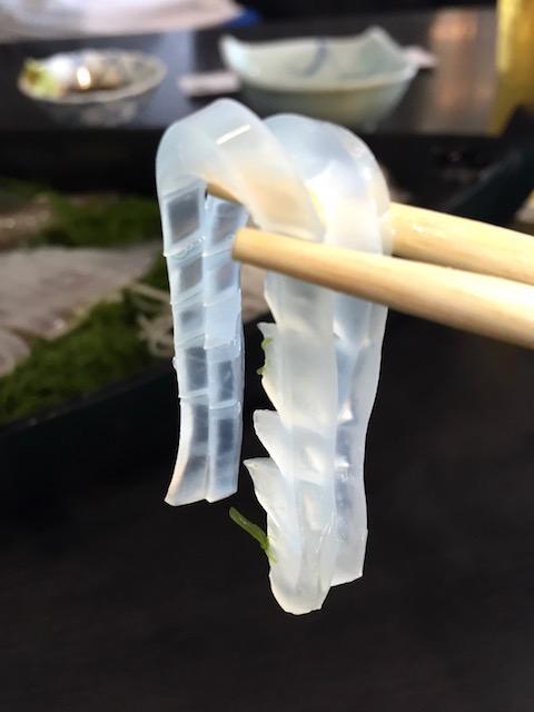 イカの概念が覆される!透明感がすごすぎる佐賀県・呼子の「イカの活きづくり」