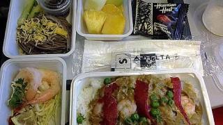 デルタ航空「ホノルル~成田」エコノミークラスの機内食をレポート