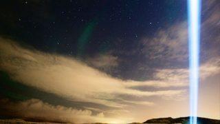 ジョンレノンを想う光 アイスランドの夜空を照らすイマジンピースタワー
