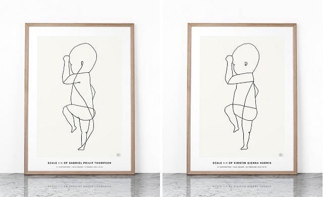 スウェーデンよりお届け!おしゃれな赤ちゃんの等身大ポスタースウェーデンよりお届け!おしゃれな赤ちゃんの等身大ポスター