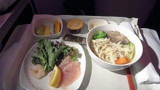 機内食レポート。中国国際航空「北京~パリ」ビジネスクラス