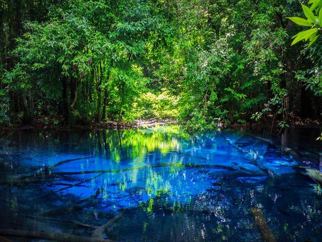 【TABIZINE青祭り】引き込まれそうな蒼。タイの天然温泉「ブループール」