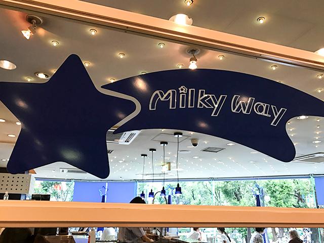 昭和の香りがするお星様だらけのパフェテラス「ミルキーウェイ」