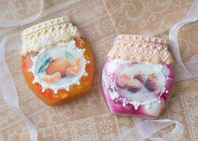 ケーキでしょうか?いいえ、石鹸です。美味しそうなアートソープ