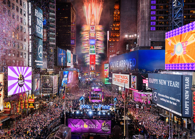 ニューヨーク タイムズスクエア カウントダウン 2018年完全攻略方法