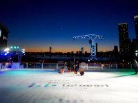 都心で海を臨みながら滑る、「Sea Sideアイススケートリンク」