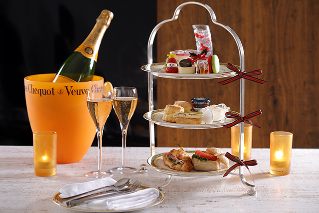 ヴーヴ・クリコのシャンパンも選べる!華やぎを添える「クリスマス アフタヌーンティー」発売【ウェスティン都ホテル京都】
