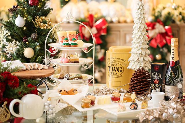 クリスマスの煌びやかなオーナメントモチーフや街の輝きをイメージしたキラキラ輝くスイーツを堪能!