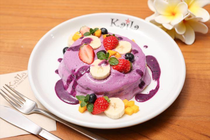 <ハワイ気分?>紫&ヘルシー「タロイモパンケーキ」登場!