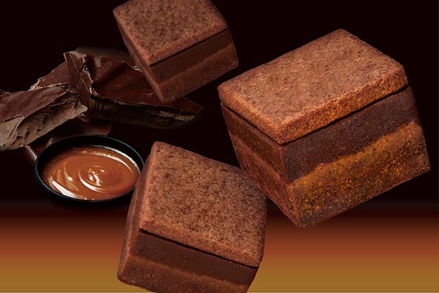 ショコラを知り尽くしたパティシェならではの、3層のキューブ型のショコラケークが成田・羽田空港で発売!