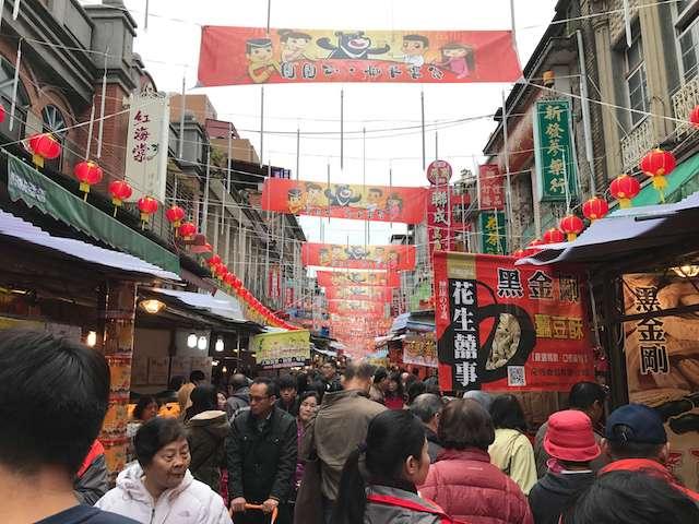 【台湾】台北迪化街の年賀大街は大賑わい!