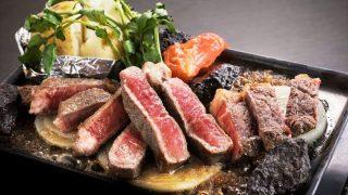 噛めば噛むほど肉汁と旨味があふれ出る、AU産サーロインステーキ