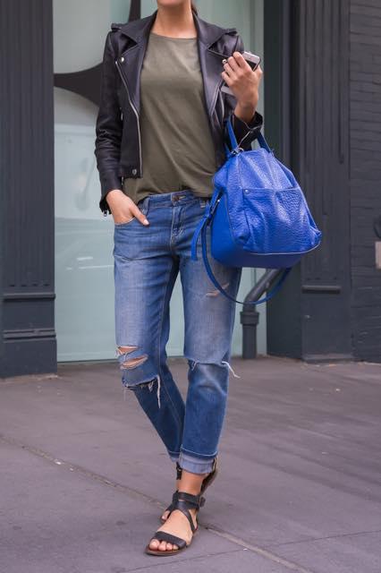 ニューヨーカーに学ぶ!大人のレザージャケットの着こなしかた
