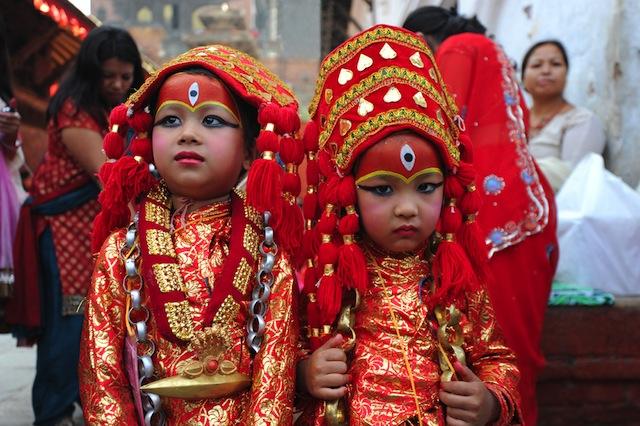 ネパールのお祭りで着られる民族衣装