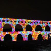 【フランス】ローマ時代の橋に現代アートが融合!音と光のショーがすごい