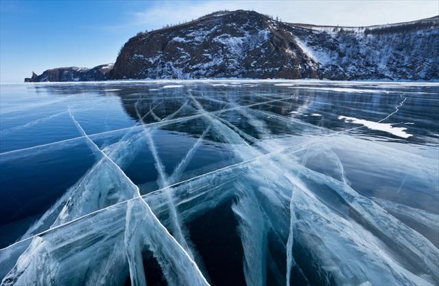 氷の上をすべると涼しい