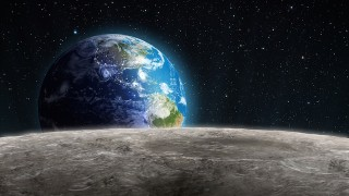 宇宙からの神秘動画!地平線から昇る地球、月から見た「地球の出」