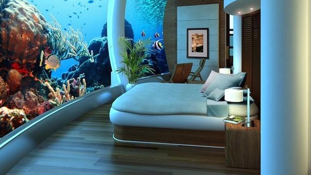 海中ホテルへようこそ。水深12mの世界を体験できる不思議なホテル