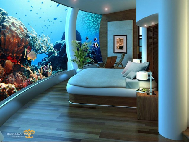 """海底に潜む不思議なホテル""""ポセイドン・アンダーシー・リゾート"""""""