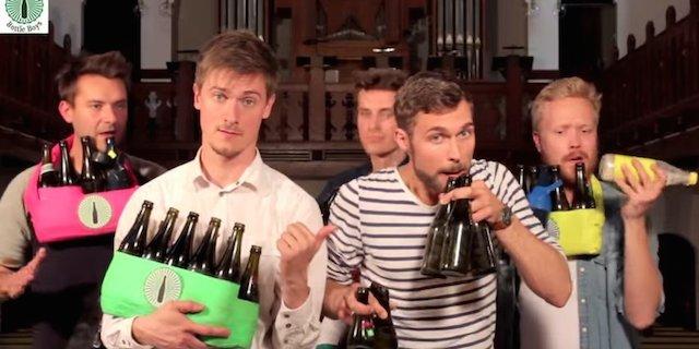 空き瓶で「感動的な音楽」を奏でるイケメングループに世界が心酔!!