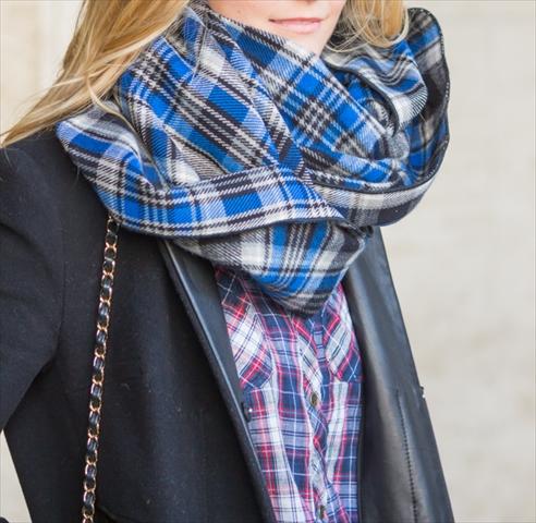 ニューヨーカーに学ぶ、冬のチェックの着こなしかた