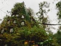 まるでファンタジーの世界!神秘の森の奥に、植物で覆われた不思議なホテルが・・・