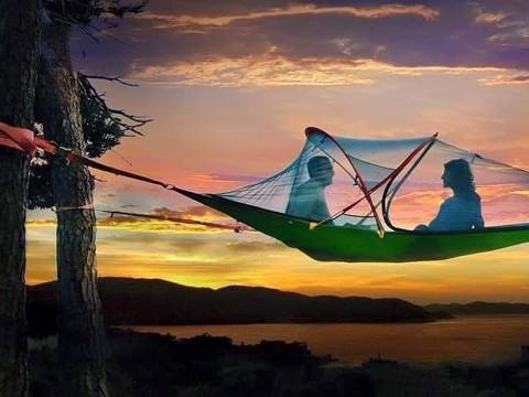 アウトドアの常識が変わる!?ロマンティックな空中テント
