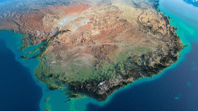 オーストラリアにある青の塩田が絵画みたいと話題