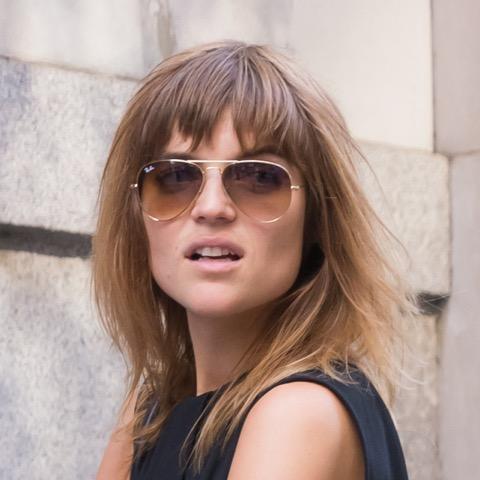 ニューヨーカーに学ぶ!モデルの素敵なバングヘア